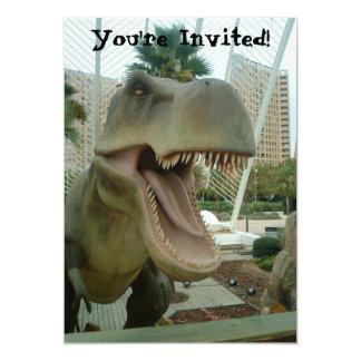 "T-Rex Dinosaur Invitation 5"" X 7"" Invitation Card"