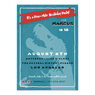 T Rex Dinosaur Kids Birthday Party Invitation