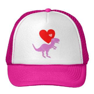 T-Rex Dinosaur Love Cap Trucker Hat