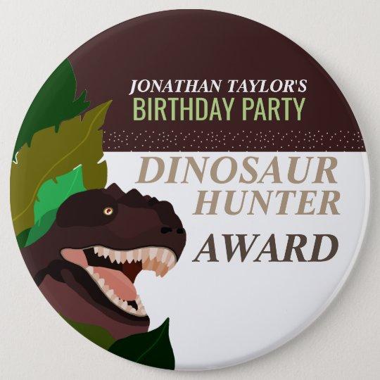 T Rex Dinosaur Party Children's Birthday 6 Cm Round Badge
