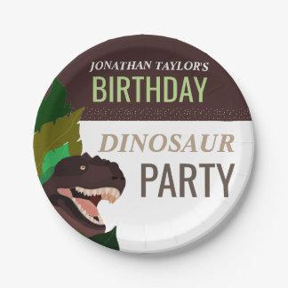 T Rex Dinosaur Party Children's Birthday Paper Plate