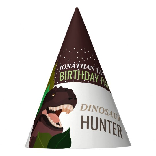 T Rex Dinosaur Party Children's Birthday Party Hat
