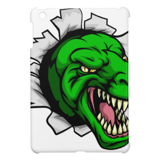 T Rex Dinosaur Ripping Through Background iPad Mini Cover