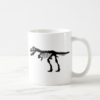 T Rex Dinosaur Skeleton Coffee Mug