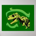 T-Rex Dinosaur Skeleton Poster