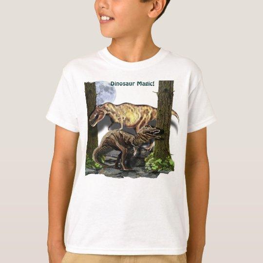 T-REX DINOSAURS, TREES & MOON Tee Rex Shirt