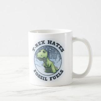 T-Rex Hates Fossils Coffee Mugs