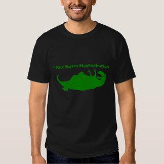 T-rex Hates Masturbation Dark Tee