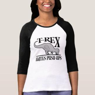 T-Rex Hates Push-Ups 24 95 Womens Raglan Tshirts