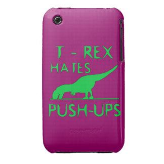 T REX HATES PUSHUPS Funny Dino Design iPhone 3 Cases