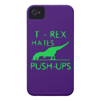 T REX HATES PUSHUPS Funny Dino Design Case-Mate iPhone 4 Case