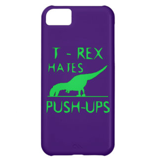 T REX HATES PUSHUPS Funny Dino Design iPhone 5C Case