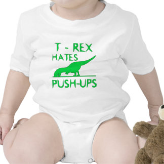 T REX HATES PUSHUPS Funny Dino Design Shirts