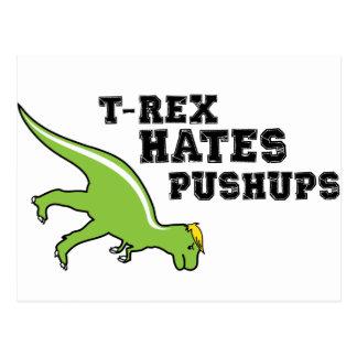 T-rex Hates Pushups Postcard
