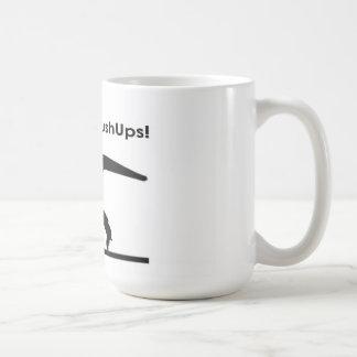 T-Rex Hates Pushups Push ups Humor Funny Basic White Mug