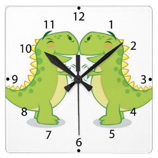 T-Rex Hug...So Close Clocks