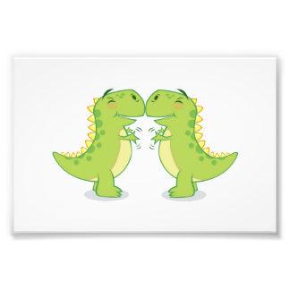 T-Rex Hug...So Close Photo Print