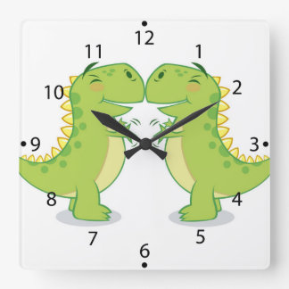 T-Rex Hug...So Close Square Wall Clock