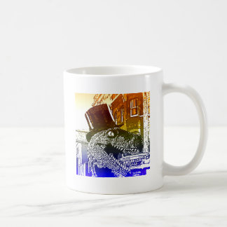 T-Rex in a tophat Coffee Mug