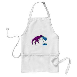 t-rex lazer flames purple apron