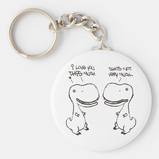 T-rex love key ring