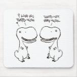 T-rex love mouse pad