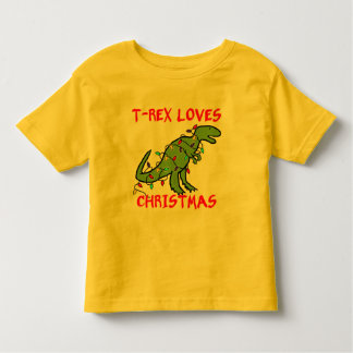 T-Rex Loves Christmas Toddler T-Shirt