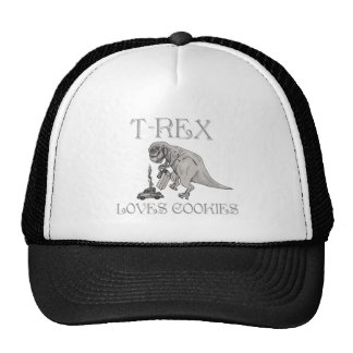 T-Rex Loves Cookies Trucker Hats