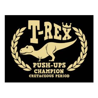 T-Rex Loves Push-Ups Postcard