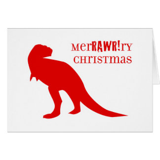 T-Rex MerRAWRry Christmas Card