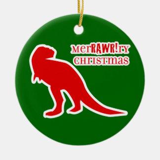 T-rex MerRAWRry Christmas Christmas Ornament