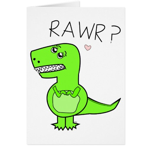 T-Rex Notecard Greeting Card