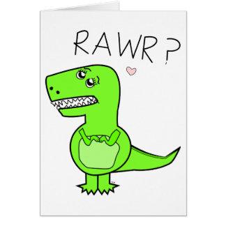 T-Rex Notecard Note Card