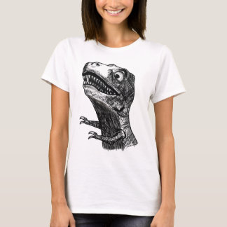 T-Rex Rage Meme - Ladies Fitted T-Shirt