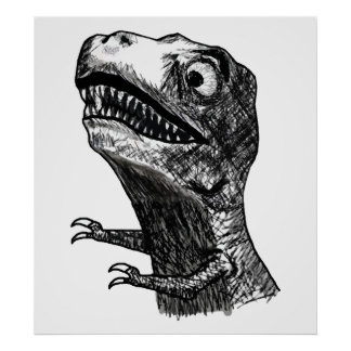 T-Rex Rage Meme - Poster