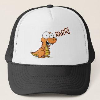 T-rex roaring trucker hat