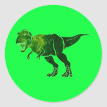 T-Rex Round Sticker
