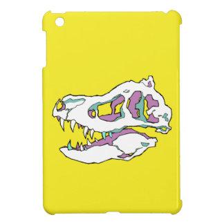 T Rex Skull on Yellow ipad case