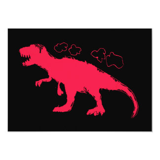 T-Rex Solid #FF0033 13 Cm X 18 Cm Invitation Card