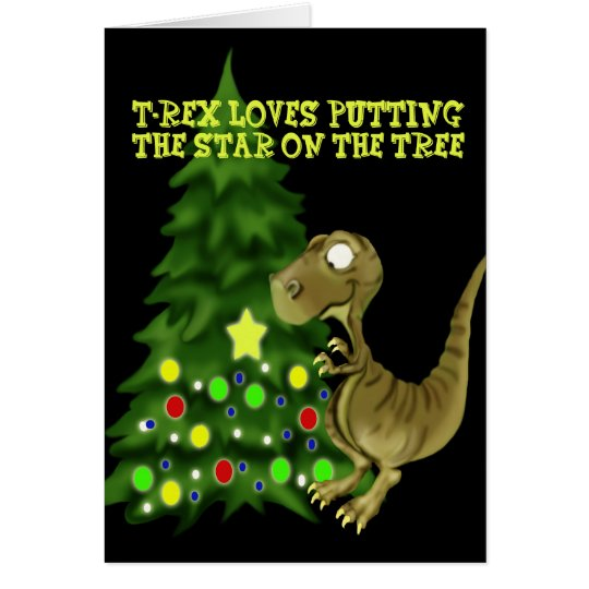 T- rex tree card