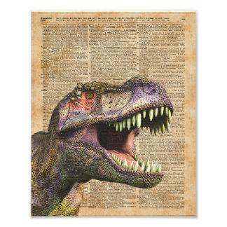 T-rex,tyrannosaurus,dinosaur Vintage Antique Art Photo Print
