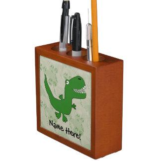 T-Rex Tyrannosaurus Rex Dinosaur Cartoon Kids Boys Desk Organiser