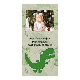 T-Rex Tyrannosaurus Rex Dinosaur Cartoon Kids Boys Picture Card