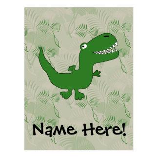 T-Rex Tyrannosaurus Rex Dinosaur Cartoon Kids Boys Postcard