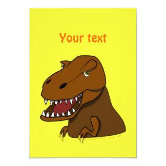 T-Rex Tyrannosaurus Rex Scary Cartoon Dinosaur 13 Cm X 18 Cm Invitation Card