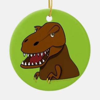 T-Rex Tyrannosaurus Rex Scary Cartoon Dinosaur Christmas Ornament