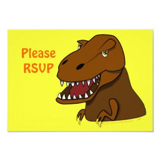 T-Rex Tyrannosaurus Rex Scary Cartoon Dinosaur 9 Cm X 13 Cm Invitation Card
