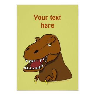 T-Rex Tyrannosaurus Rex Scary Cartoon Dinosaur Invitation