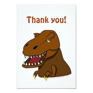 T-Rex Tyrannosaurus Rex Scary Cartoon Dinosaur Custom Invitations