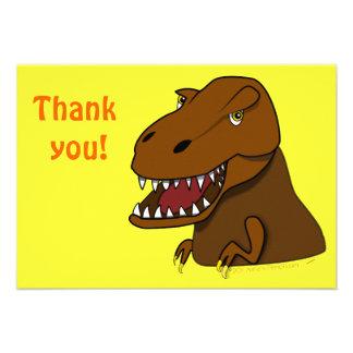 T-Rex Tyrannosaurus Rex Scary Cartoon Dinosaur Invites